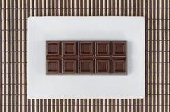 Draufsicht der Stangenschokolade Stockfotos