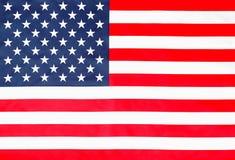 Draufsicht der sternenklaren gestreiften amerikanischen Flagge stockfotos