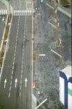 Draufsicht der Straße Stockfotos