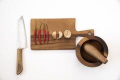 Draufsicht der Vorbereitung des Lebensmittels in der Küche Lizenzfreie Stockfotografie