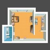 Draufsicht der Wohnung Stockfotos