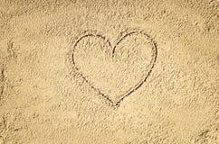 Draufsicht der Zeichnung des sandigen Strandes Hintergrund mit Kopienraum Lizenzfreie Stockfotografie