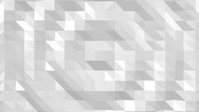 Draufsicht des abstrakten niedrigen Polygonhintergrundes der Welle stock footage