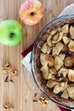 Draufsicht des Apfelkuchens Lizenzfreie Stockbilder