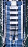 Draufsicht des Bootes lizenzfreie stockfotografie