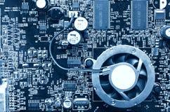 Draufsicht des Computer-Chips Stockbild