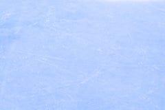Draufsicht des Eishockeys oder der Eisbahn mit Spuren von den Rochen Lizenzfreie Stockbilder