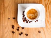 Draufsicht des Espressos Lizenzfreies Stockfoto