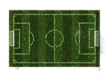 Draufsicht des Fußballplatzes Lizenzfreies Stockbild