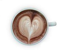 Draufsicht des Kaffees Stockbild