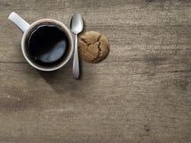 Draufsicht des keramischen Tasse Kaffees Lizenzfreie Stockbilder