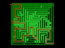 Draufsicht des Labyrinths Stockfotografie
