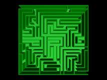 Draufsicht des Labyrinths Lizenzfreie Stockfotografie