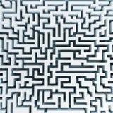 Draufsicht des Labyrinths Stockbild