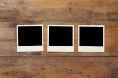 Draufsicht des leeren sofortigen Fotoalbums Lizenzfreie Stockfotos