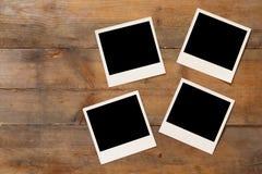 Draufsicht des leeren sofortigen Fotoalbums Stockfotos