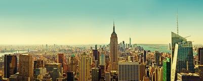 Draufsicht des Panoramas von New York Lizenzfreie Stockfotografie