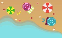 Draufsicht des schönen Strandes vektor abbildung