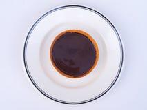 Draufsicht des Schokoladen-scharfen Nachtischs lizenzfreies stockfoto