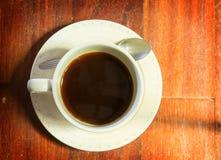 Draufsicht des schwarzen Kaffees Stockbilder