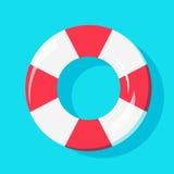 Draufsicht des Schwimmen-Rohrs auf Wasser, für Sommer-Ikone, Hintergrund-Design stock abbildung