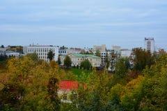 Draufsicht des Stadtzentrumods Vitebsk stockfoto