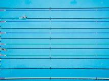 Draufsicht des Swimmingpools Lizenzfreies Stockfoto