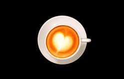 Draufsicht des Tasse Kaffees Stockfoto
