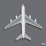 Draufsicht des Vektorflugzeuges Lizenzfreie Stockfotos