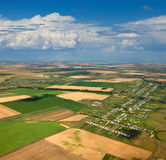 Draufsicht die ländlichen Felder Lizenzfreie Stockbilder