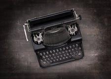 Draufsicht einer alten Schreibmaschine Stockbilder