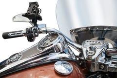 Draufsicht eines klassischen Motorrades Stockfotografie