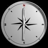 Draufsicht eines Kompassses Lizenzfreie Stockfotos