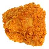 Draufsicht-knusperiges Fried Chicken Thigh Isolated Over-Weiß Lizenzfreies Stockfoto