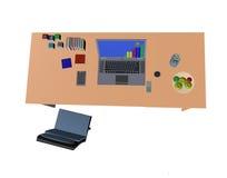 Draufsicht latop Computers 3d Stockfotos