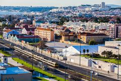 Draufsicht Lissabons Stockbild