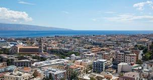 Draufsicht Messina Stockfotos