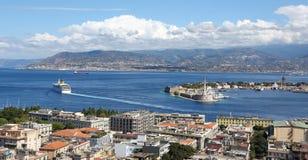Draufsicht Messina Lizenzfreies Stockbild
