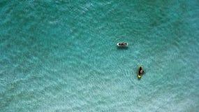Draufsicht paddleboards an einem sonnigen Tag Stockfoto