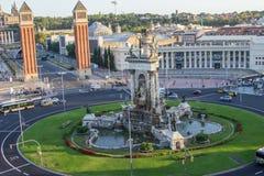 Draufsicht Plaza de España Stockfoto