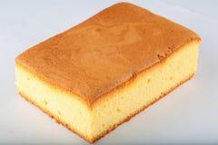 Draufsicht, selbst gemachter orange Kuchen Lizenzfreie Stockbilder