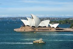 Draufsicht Sydney Opera Houses und Sydney beherbergten Stockbild