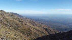 Draufsicht vom Berg von cà ³ rdoba, Argentinien stockfoto