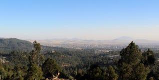 Draufsicht von Addis Ababa Stockfotografie