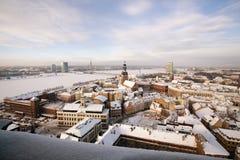 Draufsicht von altem Riga Stockfotos