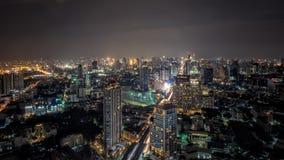 Draufsicht von Bangkok, Hauptstadt von Thailand Lizenzfreie Stockfotos