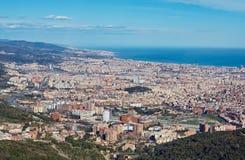 Draufsicht von Barcelona, Spanien Lizenzfreie Stockfotografie