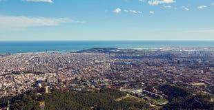 Draufsicht von Barcelona, Spanien Lizenzfreies Stockfoto