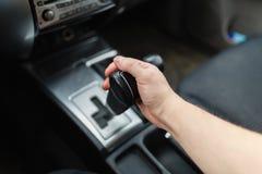 Draufsicht von bemannt Handschaltergetriebe Stockfotografie