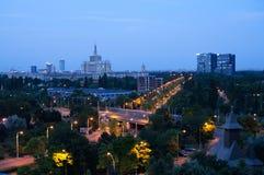 Draufsicht von Bukarest Stockfotografie